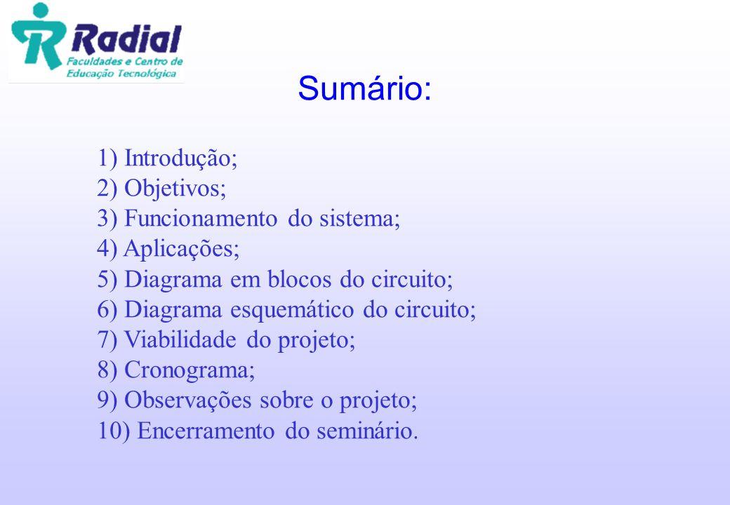 Sumário: 1) Introdução; 2) Objetivos; 3) Funcionamento do sistema;