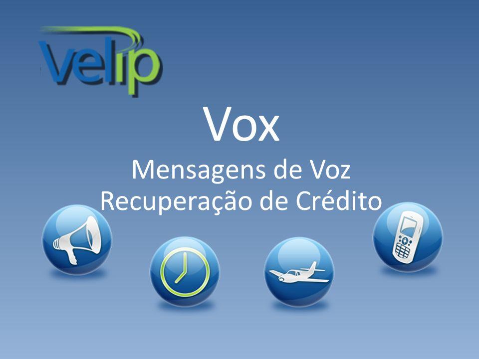 Vox Mensagens de Voz Recuperação de Crédito