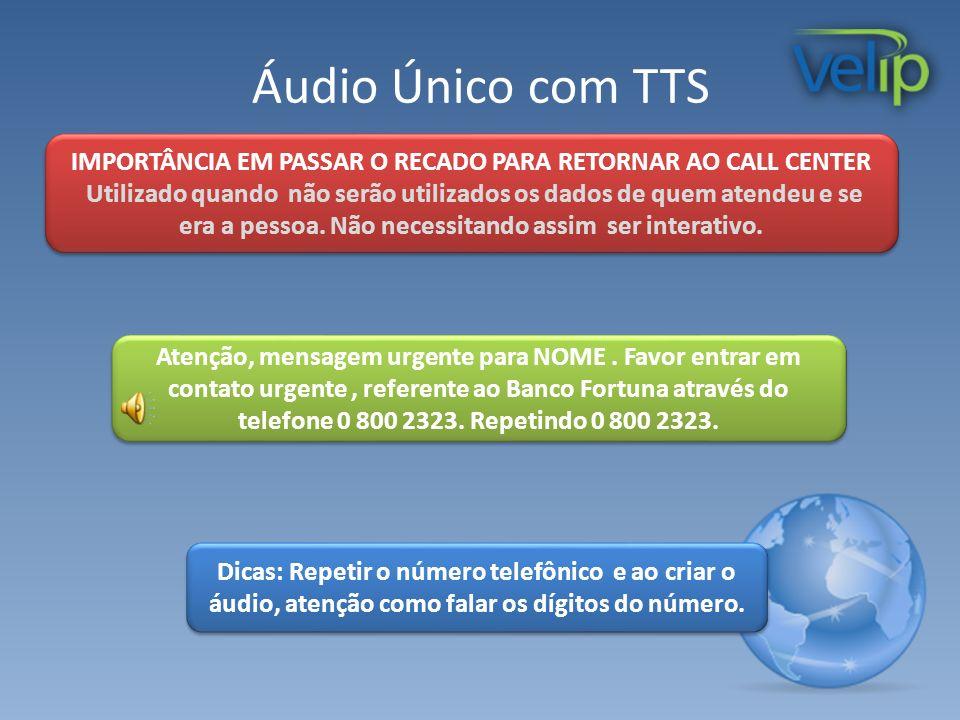 Áudio Único com TTS