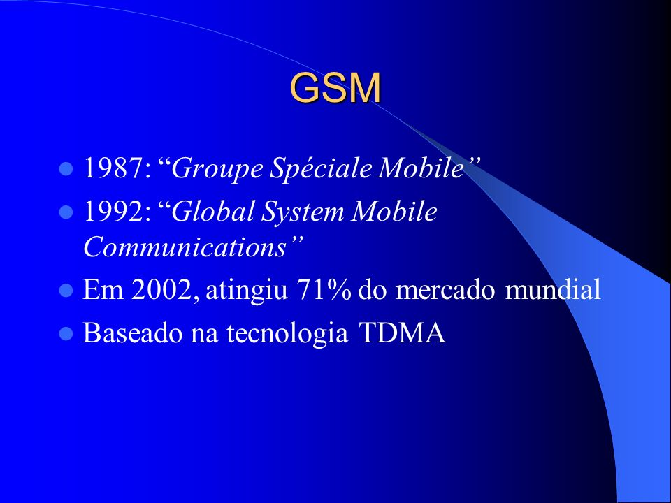 GSM 1987: Groupe Spéciale Mobile