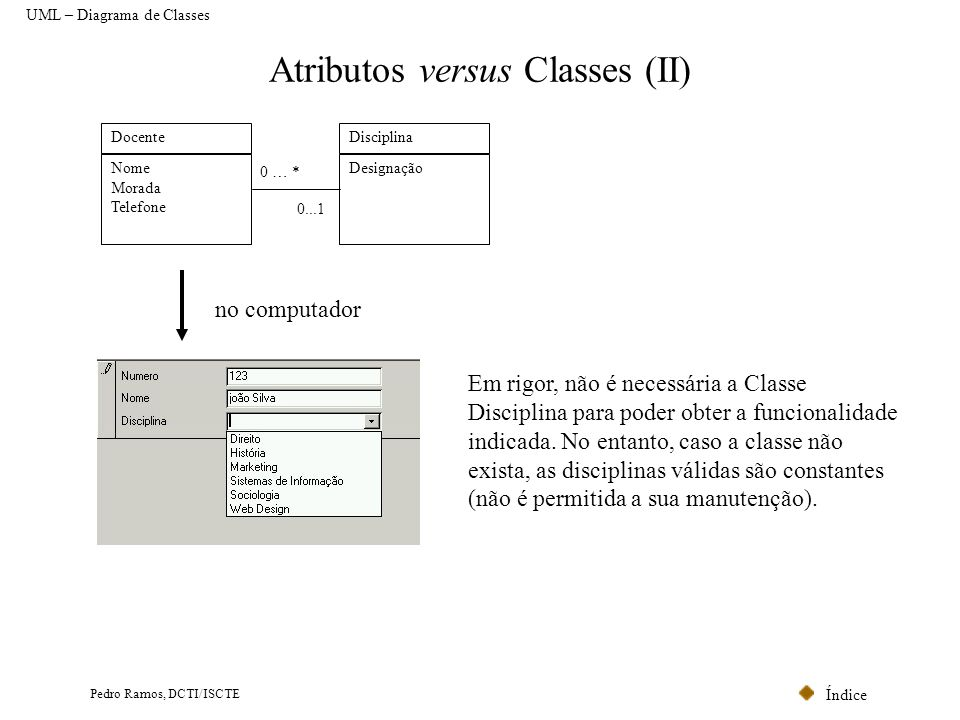 Atributos versus Classes (II)