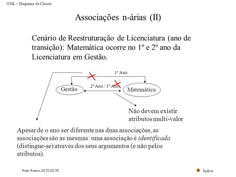 Associações n-árias (II)
