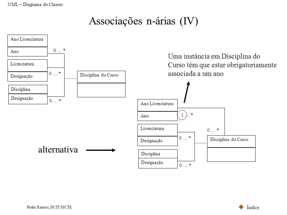Associações n-árias (IV)