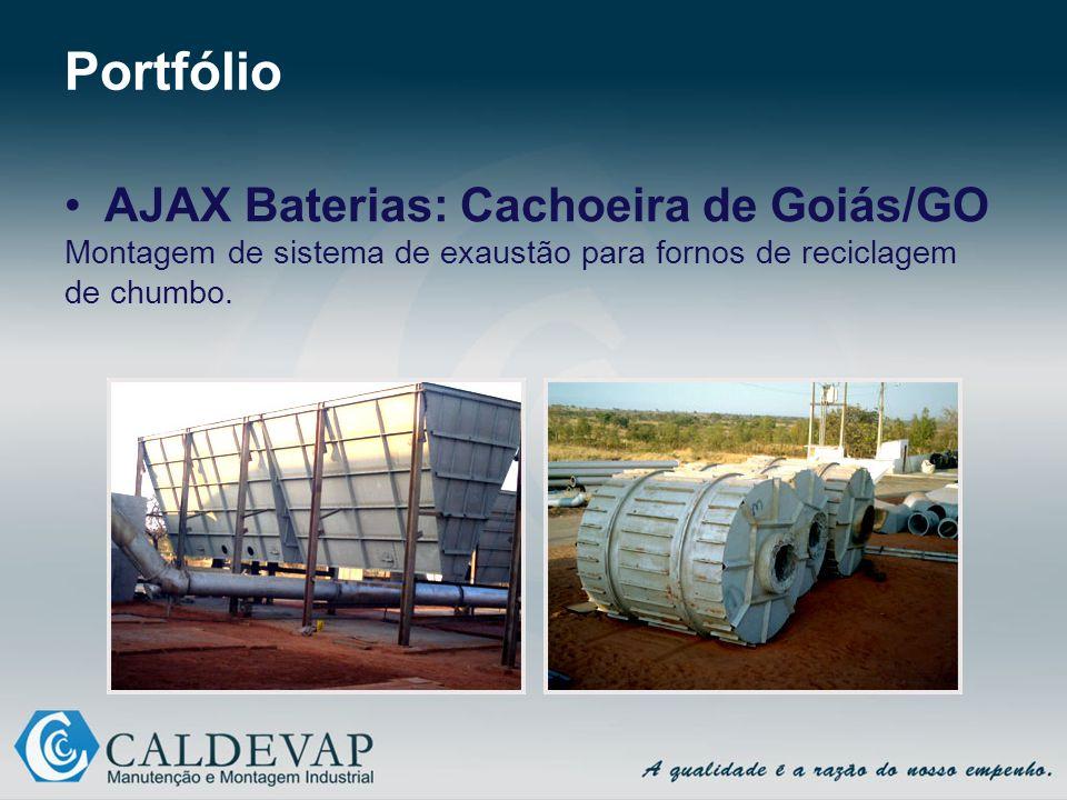 Portfólio AJAX Baterias: Cachoeira de Goiás/GO