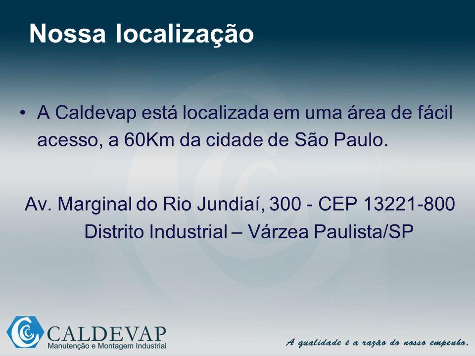 Nossa localização A Caldevap está localizada em uma área de fácil acesso, a 60Km da cidade de São Paulo.