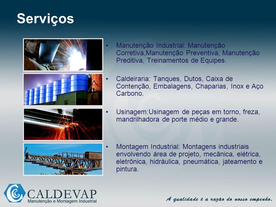 Serviços Manutenção Industrial: Manutenção Corretiva,Manutenção Preventiva, Manutenção Preditiva, Treinamentos de Equipes.