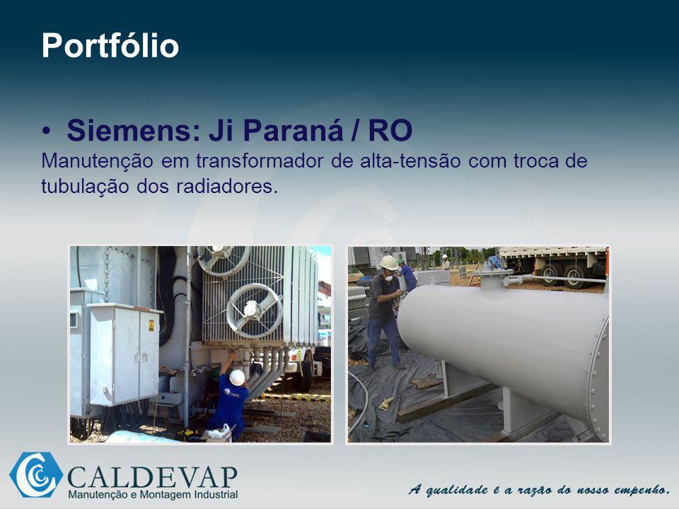 Portfólio Siemens: Ji Paraná / RO