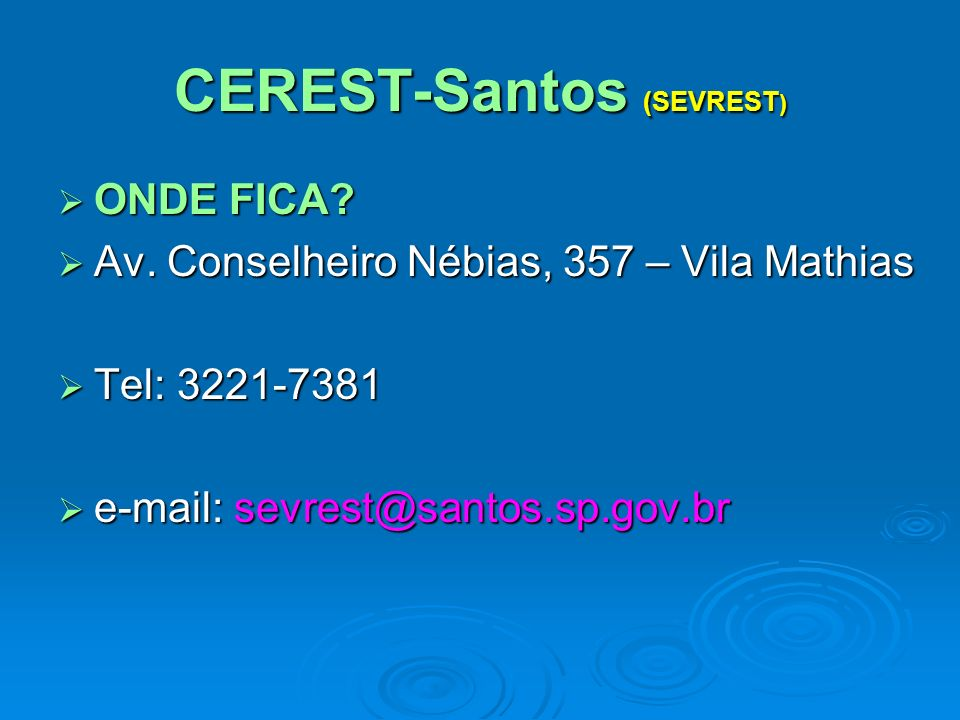 CEREST-Santos (SEVREST)