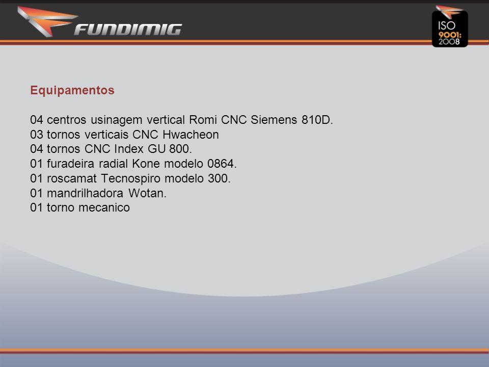 Equipamentos 04 centros usinagem vertical Romi CNC Siemens 810D