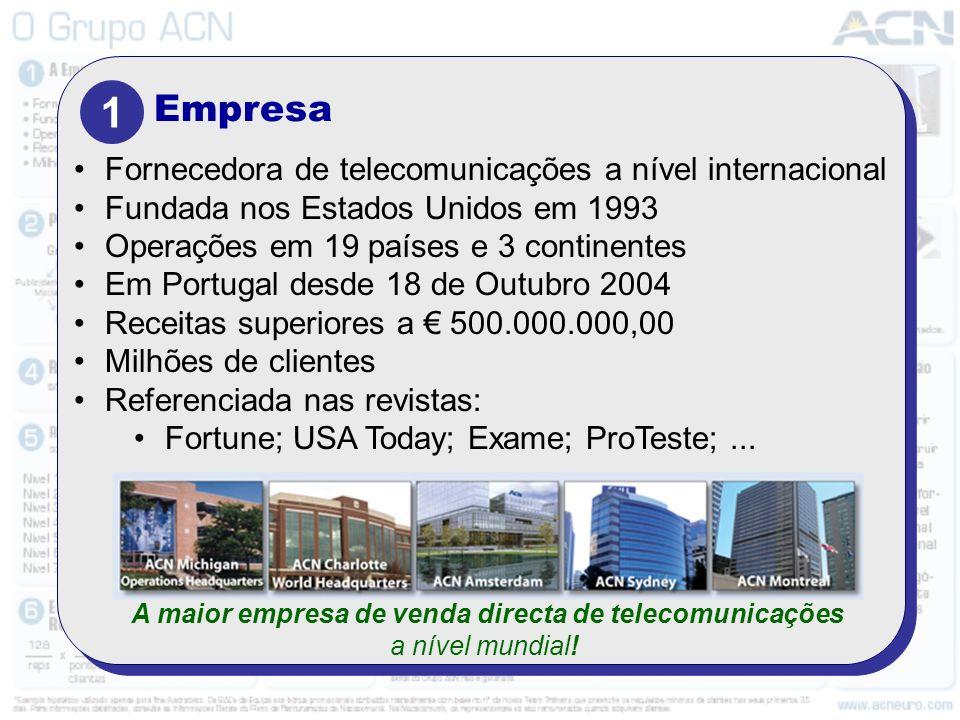 A maior empresa de venda directa de telecomunicações a nível mundial!