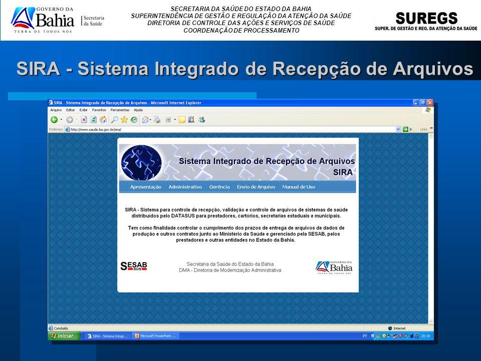 SIRA - Sistema Integrado de Recepção de Arquivos