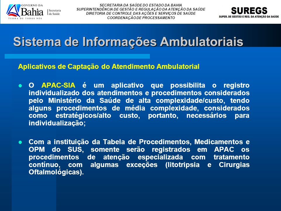 Sistema de Informações Ambulatoriais