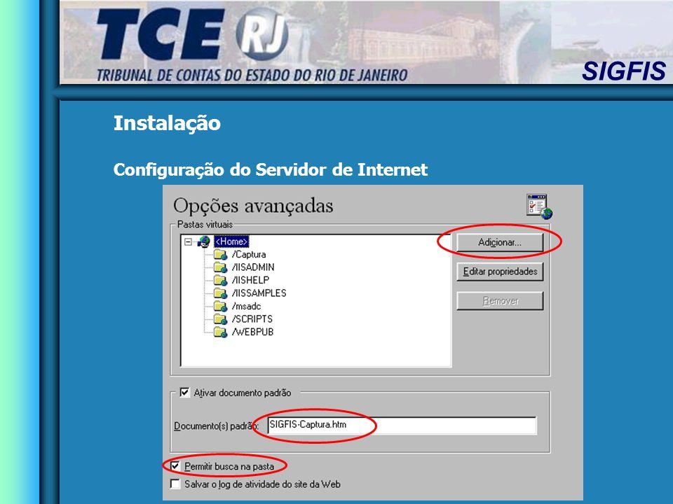 Instalação Configuração do Servidor de Internet