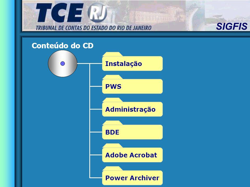 Conteúdo do CD Instalação PWS Administração BDE Adobe Acrobat