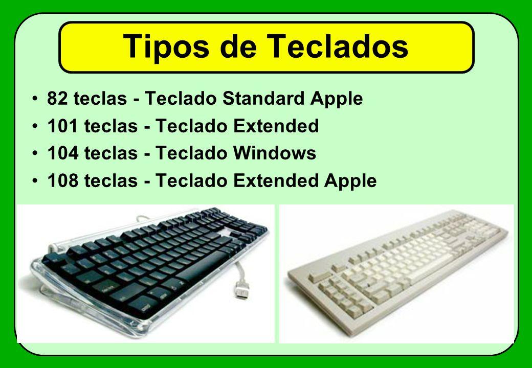Tipos de Teclados 82 teclas - Teclado Standard Apple