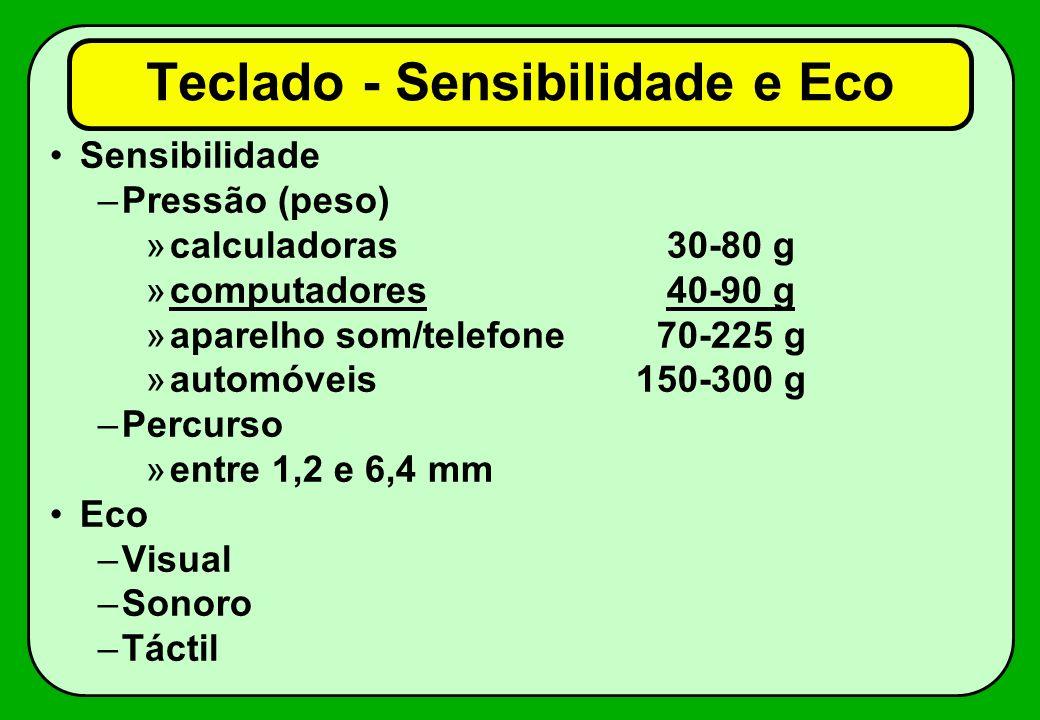 Teclado - Sensibilidade e Eco