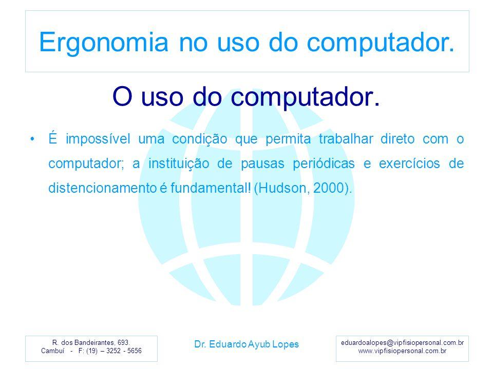 O uso do computador.