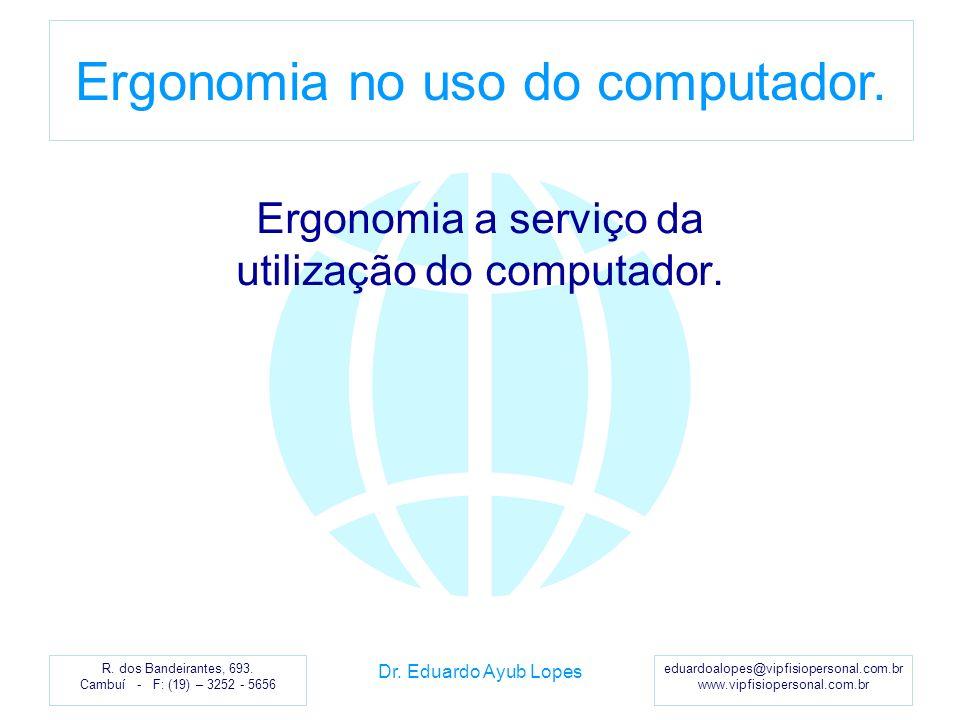 Ergonomia a serviço da utilização do computador.