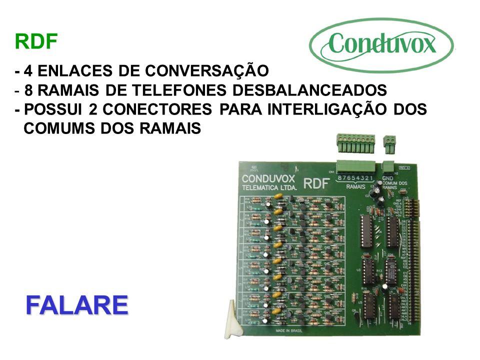 FALARE RDF - 4 ENLACES DE CONVERSAÇÃO