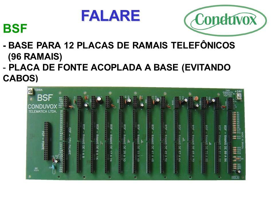 FALARE BSF - BASE PARA 12 PLACAS DE RAMAIS TELEFÔNICOS (96 RAMAIS)