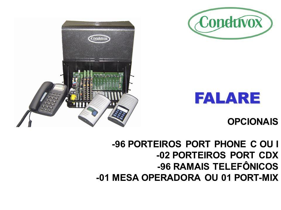 FALARE OPCIONAIS -96 PORTEIROS PORT PHONE C OU I