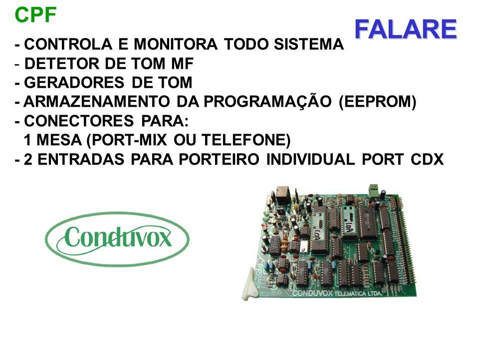 FALARE CPF - CONTROLA E MONITORA TODO SISTEMA DETETOR DE TOM MF