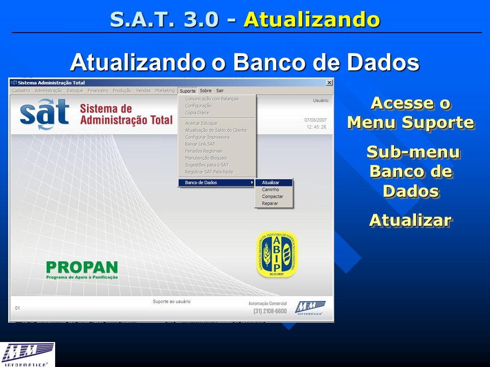 Atualizando o Banco de Dados