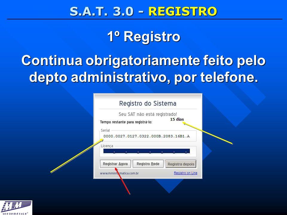 S.A.T. 3.0 - REGISTRO 1º Registro.