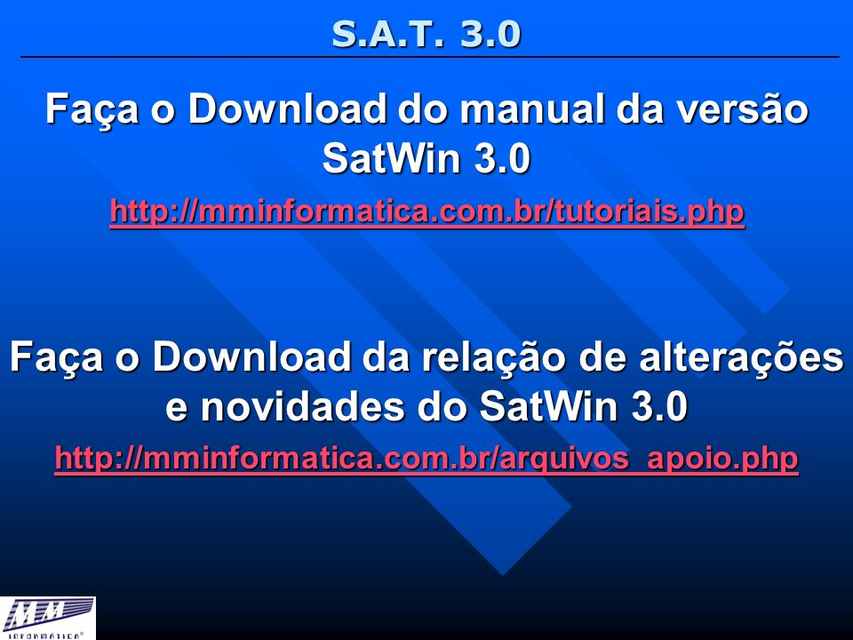Faça o Download do manual da versão SatWin 3.0