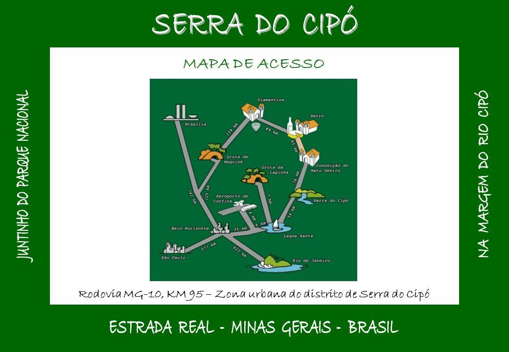 SERRA DO CIPÓ MAPA DE ACESSO JUNTINHO DO PARQUE NACIONAL