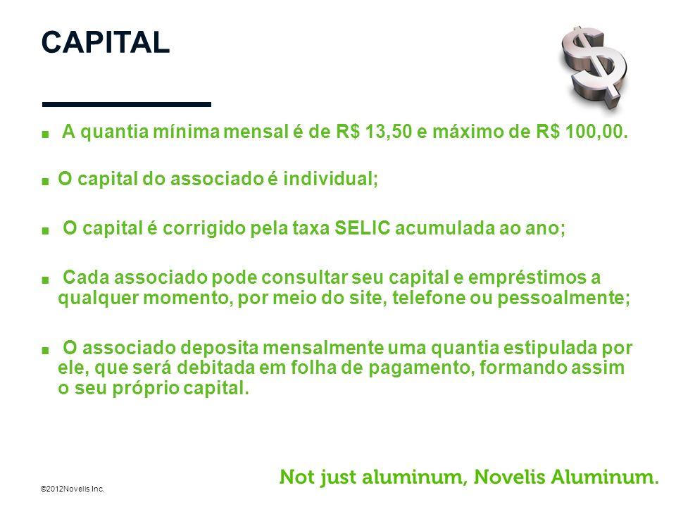 CAPITAL A quantia mínima mensal é de R$ 13,50 e máximo de R$ 100,00.