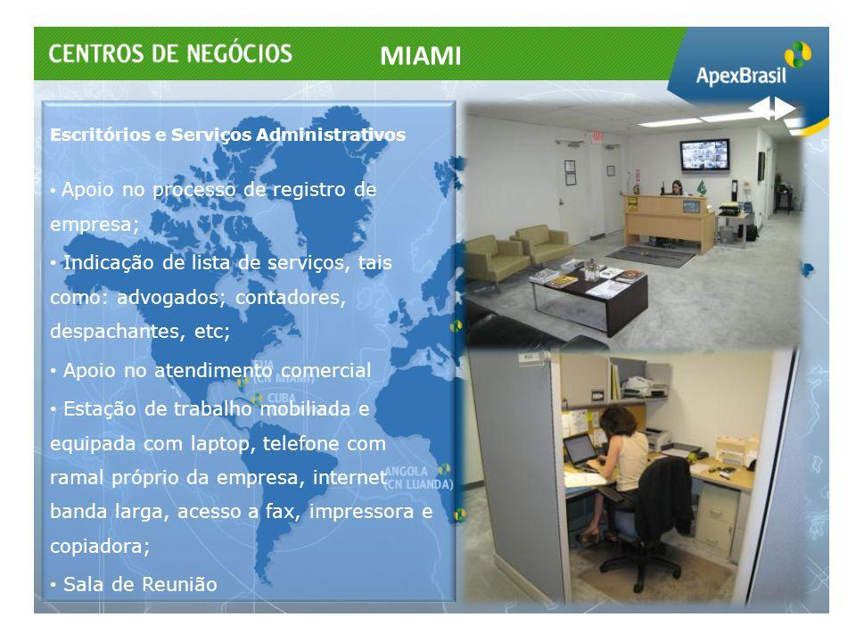 MIAMI Escritórios e Serviços Administrativos. Apoio no processo de registro de empresa;