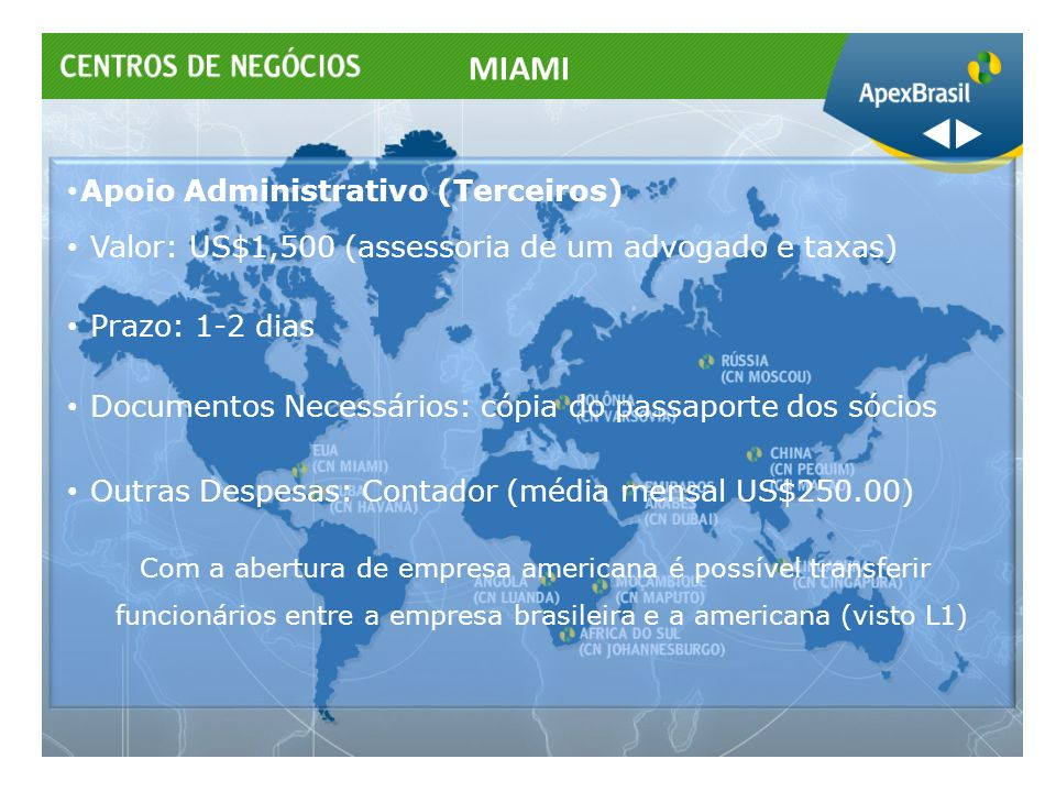 MIAMI Apoio Administrativo (Terceiros)