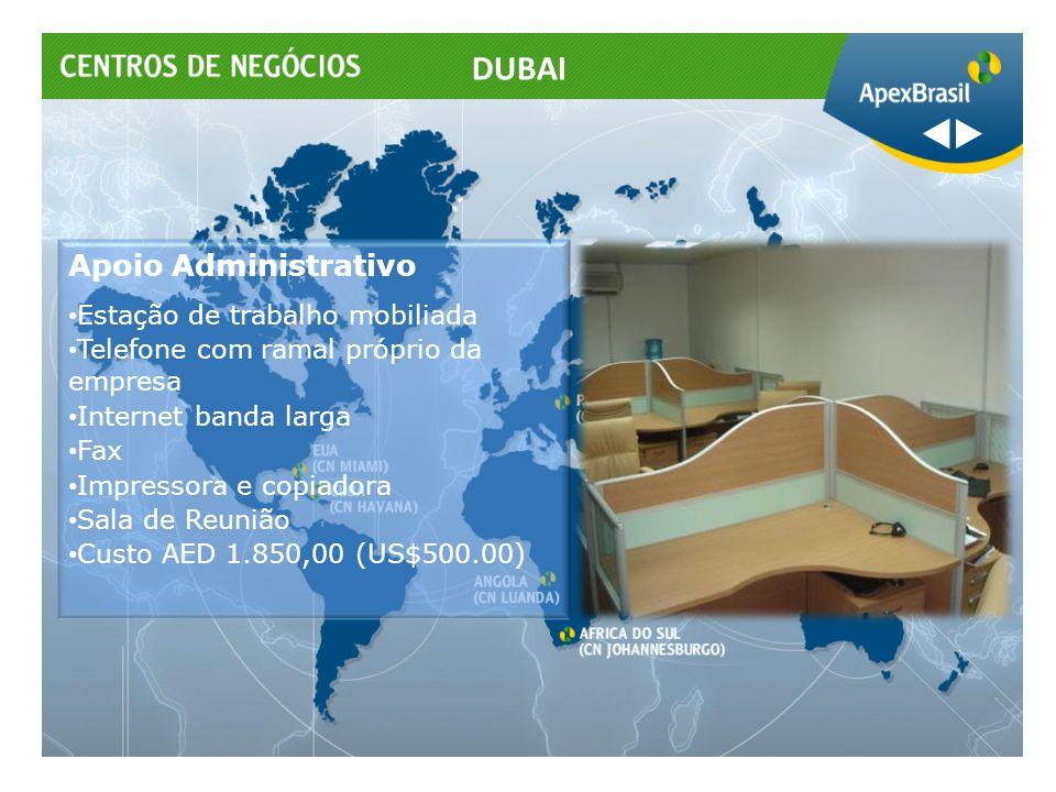DUBAI Apoio Administrativo Estação de trabalho mobiliada