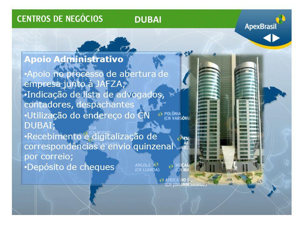 DUBAI Apoio Administrativo