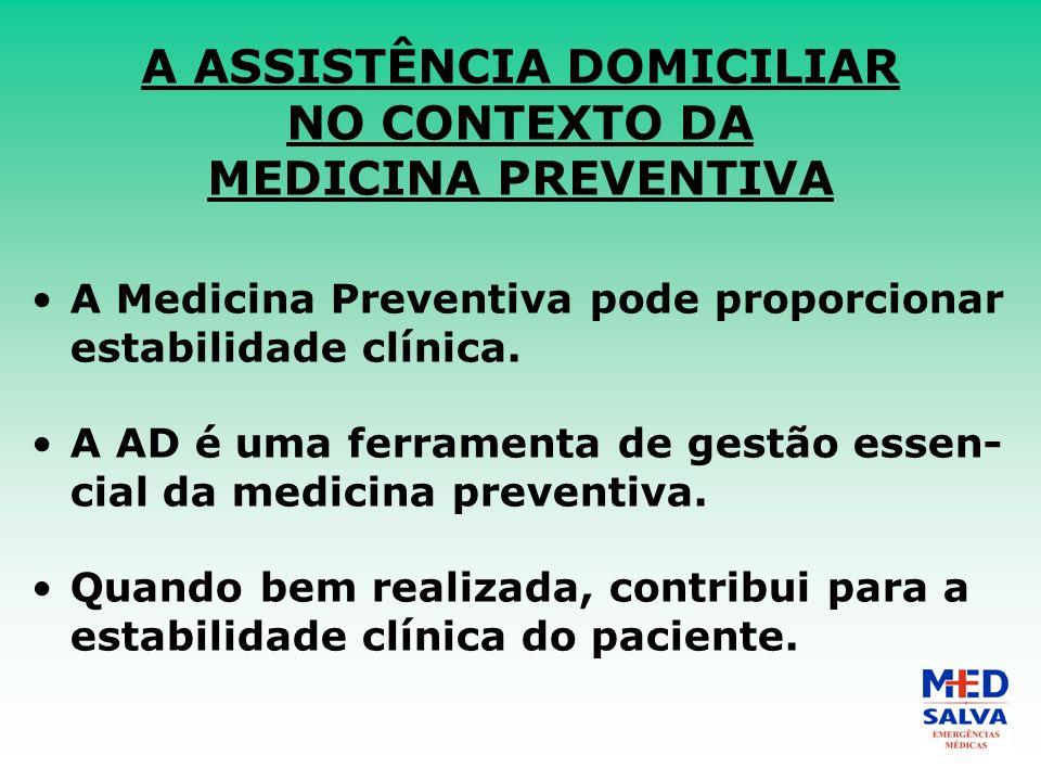 A ASSISTÊNCIA DOMICILIAR NO CONTEXTO DA MEDICINA PREVENTIVA