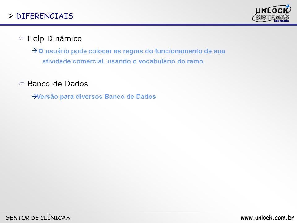 DIFERENCIAIS Help Dinâmico Banco de Dados