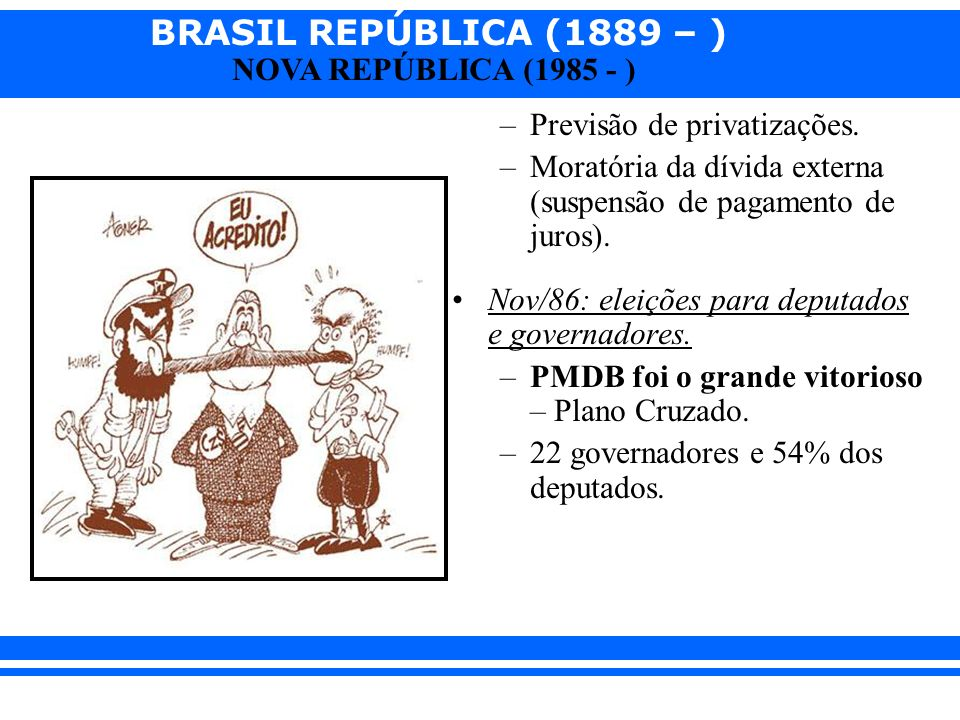Previsão de privatizações.
