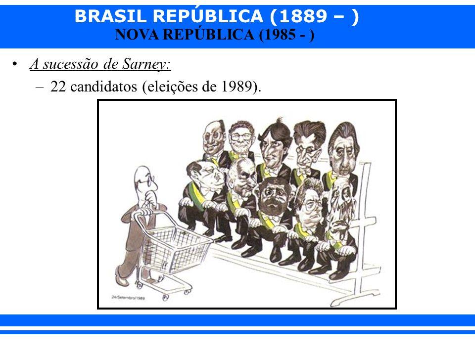 A sucessão de Sarney: 22 candidatos (eleições de 1989).