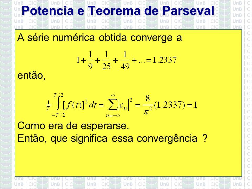 Potencia e Teorema de Parseval