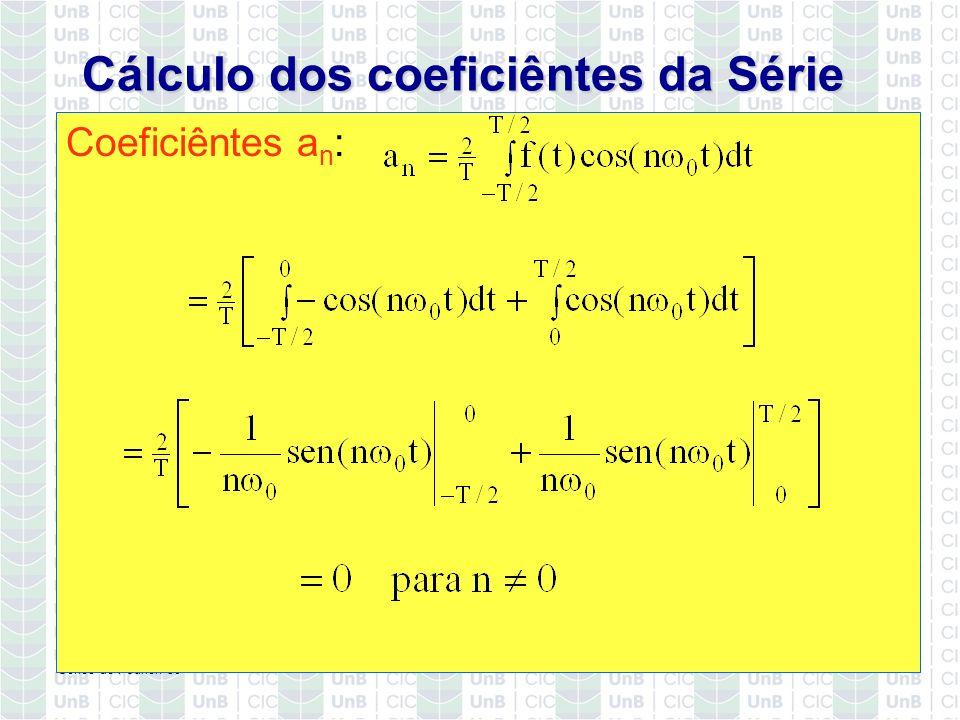 Cálculo dos coeficiêntes da Série
