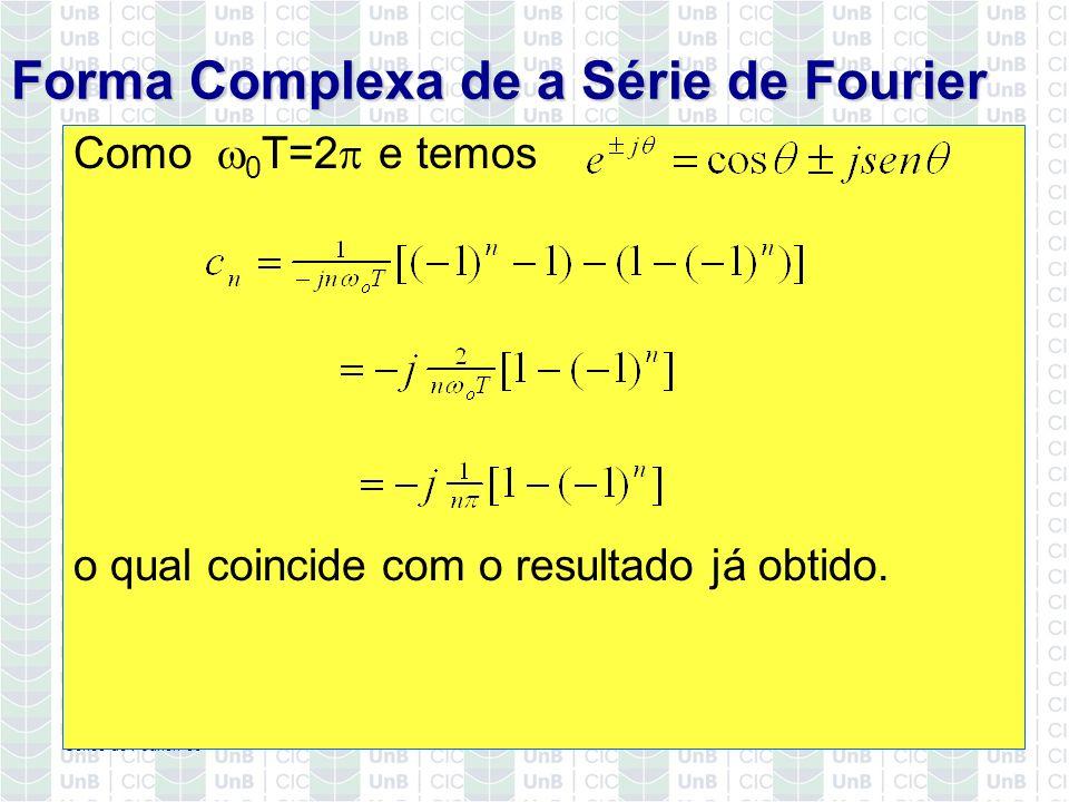 Forma Complexa de a Série de Fourier