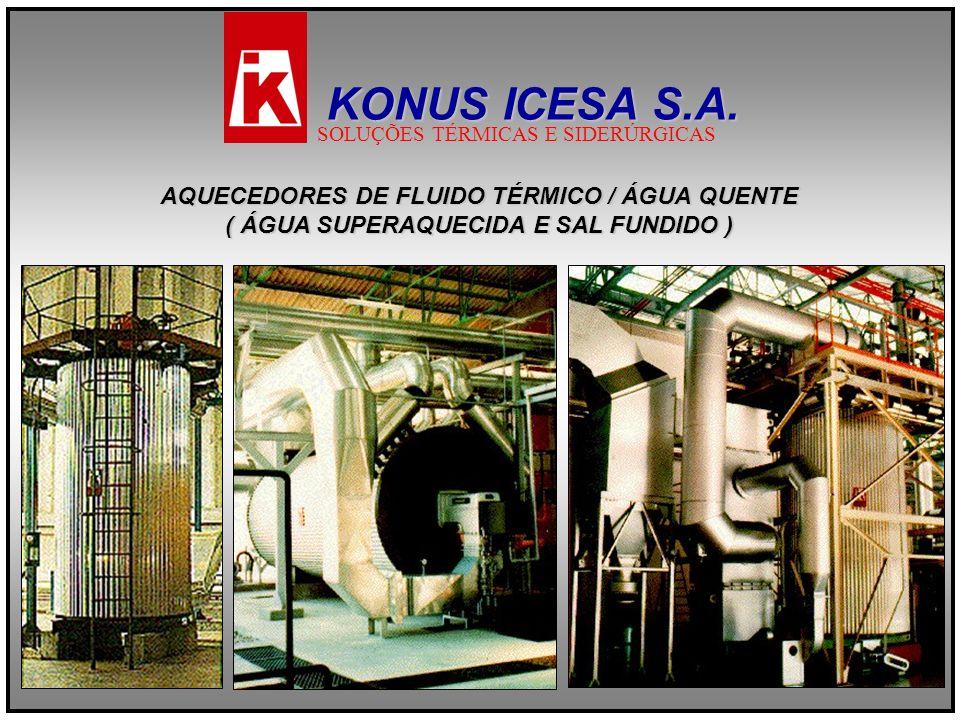 KONUS ICESA S.A. AQUECEDORES DE FLUIDO TÉRMICO / ÁGUA QUENTE