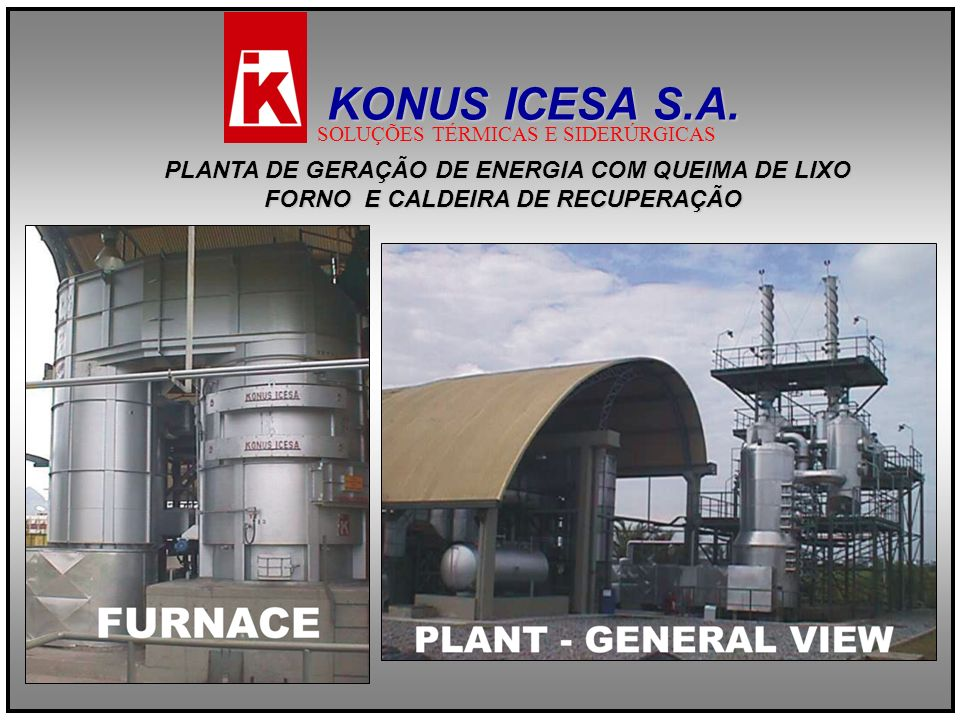 KONUS ICESA S.A. PLANTA DE GERAÇÃO DE ENERGIA COM QUEIMA DE LIXO