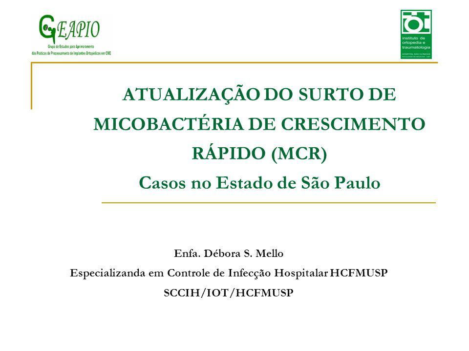 Especializanda em Controle de Infecção Hospitalar HCFMUSP