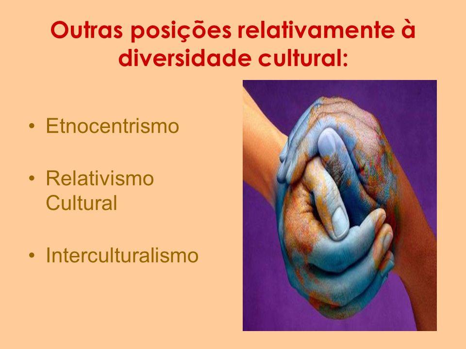 Outras posições relativamente à diversidade cultural: