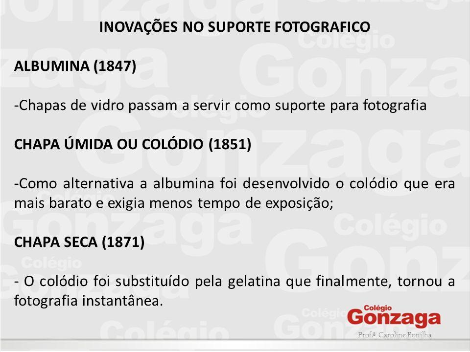 INOVAÇÕES NO SUPORTE FOTOGRAFICO