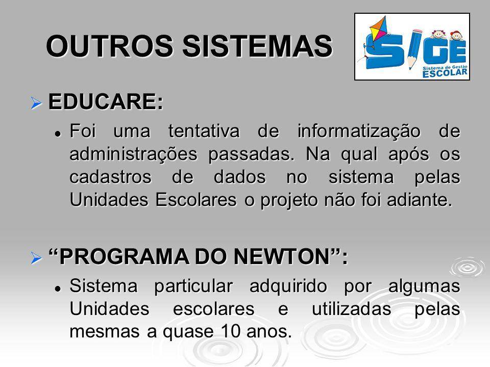 OUTROS SISTEMAS EDUCARE: PROGRAMA DO NEWTON :
