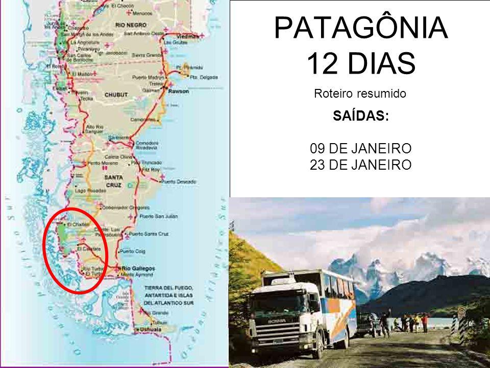 SAÍDAS: 09 DE JANEIRO 23 DE JANEIRO