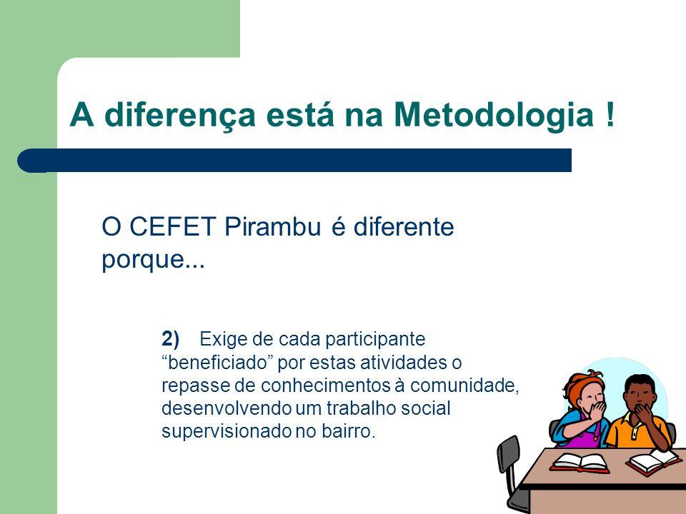 A diferença está na Metodologia !